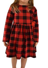 Sukienka krata czerwono czarna