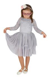 SUkienka elegancka koronkowa  szara   VANESSA