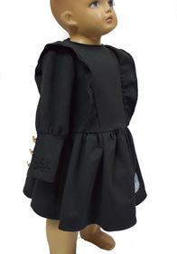 Sukienka czarna -guziki