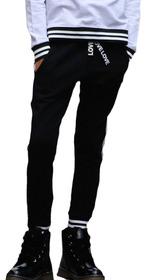 Spodnie dresowe czarne lampas
